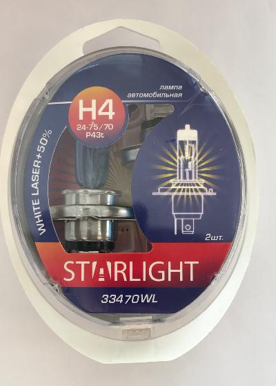 А/лампа Н4 24-75/70 р43t White Laser+50% STARLIGHT  (2 шт.)